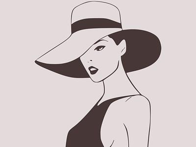 Beautiful lady fashion vector illustration design flatposter flatdesign