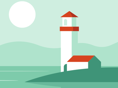 Lighthouse vector illustration design flatposter flatdesign