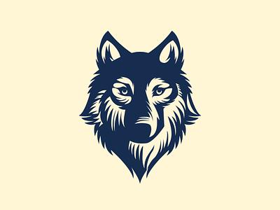 Wolf  portrait logos logodesigns logodesign logo illustration design flatposter flatdesign