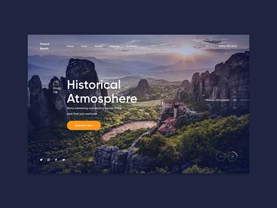 Greece website web ux ui design