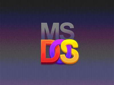 MS DOS Logo Tribute logotype 4k hd tribute interface icon microsoft dos logo