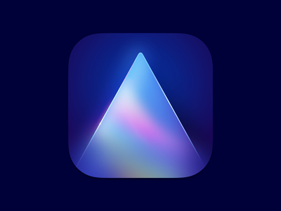 Luminar AI Icon figmadesign figma photo editor photo prism crystal brand illustration logo ui icons macos osx interface mac icon vector