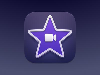 iMovie Icon icon design video apple logo ui mac interface illustrator vector illustration macos osx ios remix remux sketch icon imovie