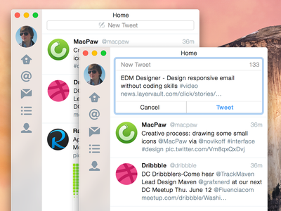 Twitter for Yosemite: Tweet UX improvement