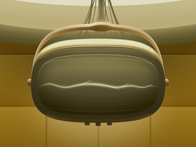 TVA Monitor. From Loki Series. yellow illustration icon vector graph brutalism monitor disney marvel tva loki figma
