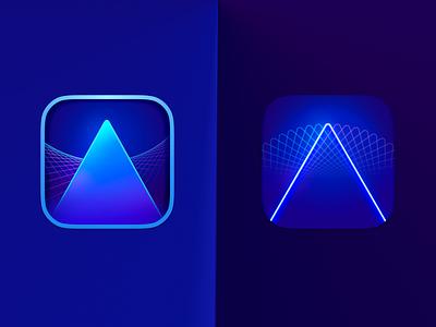 Luminar Ai icon Exploration vector macos illustration design osx interface mac figma icon logo branding ui