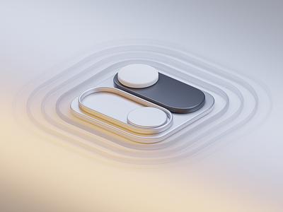 Switcher figma blender design macos osx interface mac future ui graphic design 3d