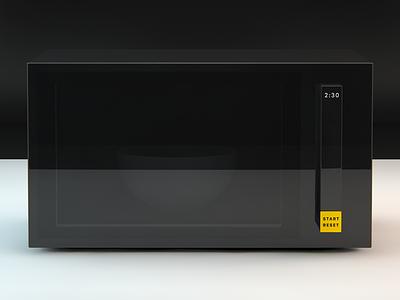Microwave concept simple microwave concept 3d cinema4d render kitchen
