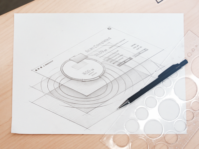 Rippple for Dribbble interface scan product pespective pencil stellar sketch macpaw macos