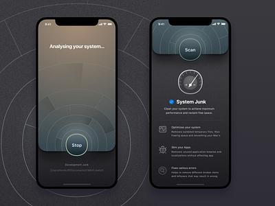 CleanMyMac iOS Concept concept icons ui design sketch ios interface mac macpaw