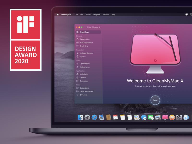 CMMX. iF Design Award Winner ui macos osx interface macpaw winner design mac cleanmymac award if