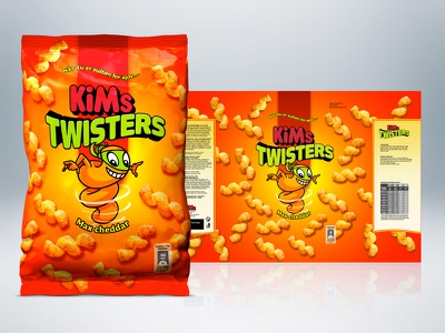 KiMs Twisters 3d packaging chips bag