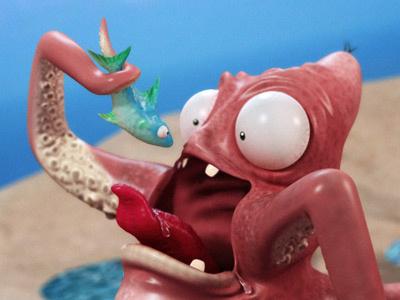 Squid squid maya zbrush 3d fish octopus