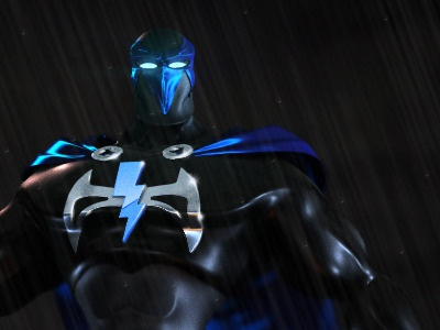 Hero-Antihero 3d hero antihero superhero comic character night city weapons canister cape mask