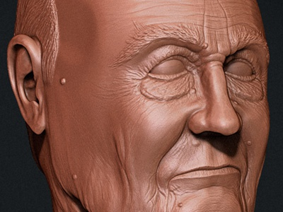 Old Man Bust bust 3d zbrush man model digital sculpt