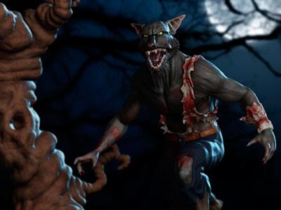 Werewolf werewolf wolfman lycan lycanthropy wolf horror blood moon 3d zbrush