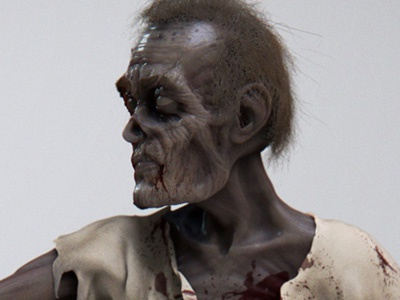 To Eat Or Not To Eat zombie brain horror zbrush blood