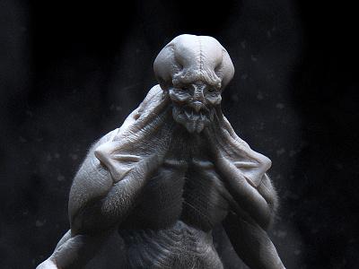 Monster Maquette monster maquette sculpt beast demon zbrush 3d