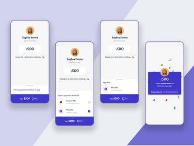 Payment Integration App UI payment money transfer ui flat  design mobile app mobil ui minimalist payment intigration application design