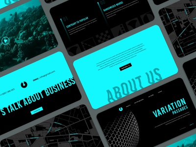 Creative Agency Landing Page flat  design flat ui typography creative web app home page design clean desktop bold agency website
