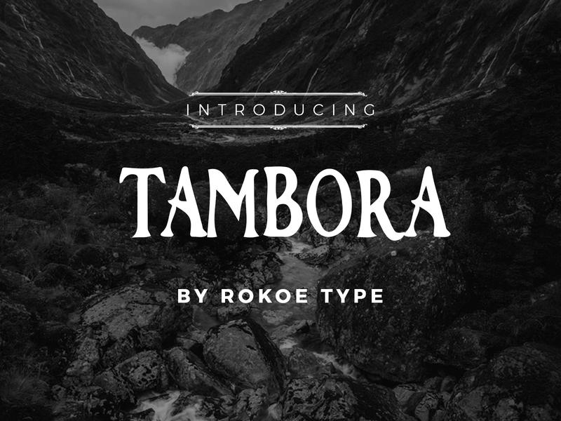 Tambora Font vintage badge classy movie travel adventure design vintage font typeface fonts font design display type display font