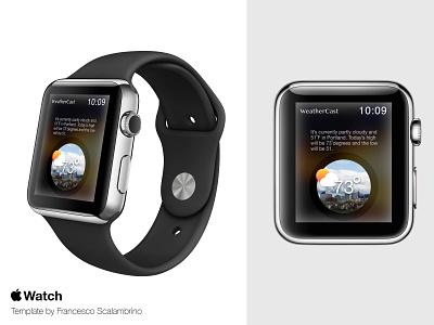 WeatherCast  - Smartwatch UI design concept mobile app design design uidesign ui applewatch weathercast concept design weather app smartwatch