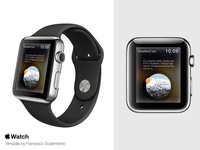 WeatherCast  - Smartwatch UI design concept