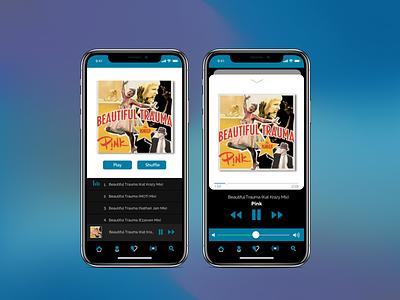 MusicApp - Part2 concept player mobile app design dailyui uidesign ui