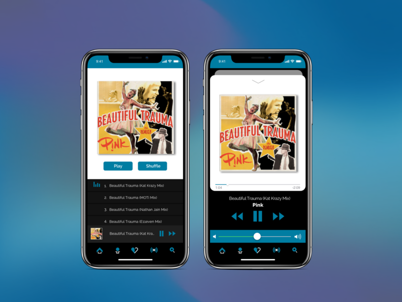MusicApp - Part2 concept player mobile app design dailyui uidesign ui