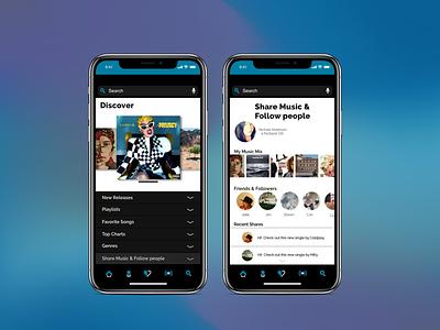 Music App - Part 3 music concept mobile app design dailyui uidesign ui