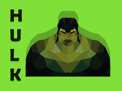Hulk hulk afid illustrator figma vector lowpolyart illustration