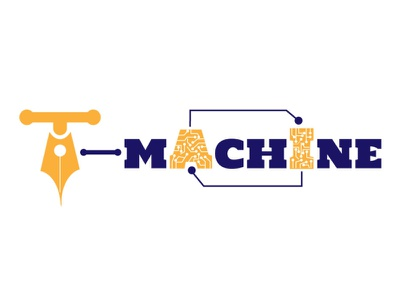 T-Machine logo onlinelearning teaching artificial intelligence brand design brand logodesign ai illustrator logo