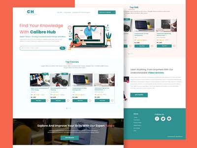 E-Learning Website Design web app design web design web ui e-learning web app uxdesign website design uidesign illustration design ui uiux figma