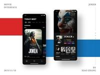 Joker Movie App interface
