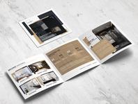 Square Trifold Interior Brochure Template