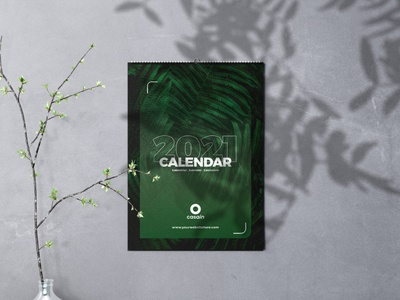 Wall Calendar 2021 PSD Template motivational quotes nature corporate identity branding print ready creative design graphic print days month calendar 2021 calendar design calendar