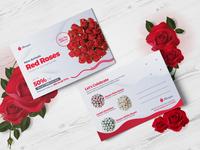 Marquis Flower Postcard PSD