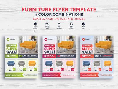 Furniture Flyer Template poster flyer template studio business furniture furniture store corporate branding flyer flyer design creative professional design print ready graphic print