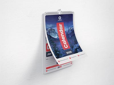 2020 Calendar Template photoshop branding corporate creative design professional print ready graphic print calendar design calendar 2020 calendar
