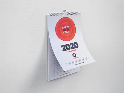 Wall Calendar 2020 Template wall calendar ui calendar app vector logo modern creative design professional print ready graphic print