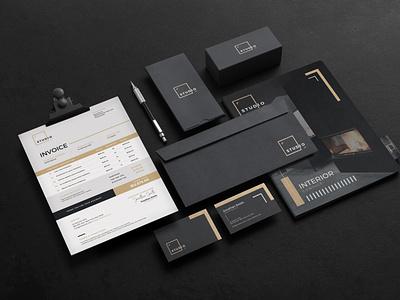 Corporate Identity printing elegant invoice simple black corporate identity architect photoshop branding corporate modern creative design professional print ready graphic print