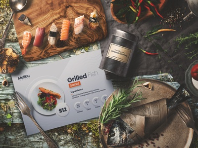 Restaurant Postcard Template illustration food postcard tipography branding modern creative design print ready graphic print