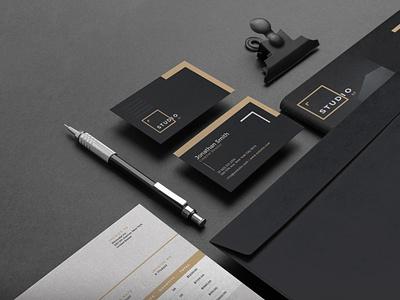 Corporate Identity identity simple logo design black clean branding brand identity