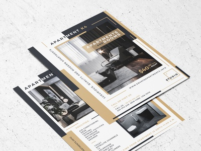 Apartment Flyer Template luxurious apartment flyer rooms apartment flyer identity photoshop corporate branding modern professional creative print ready design graphic print