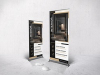 Interior Roll-Up Banner Template