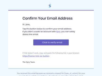 Email Confirmation Template
