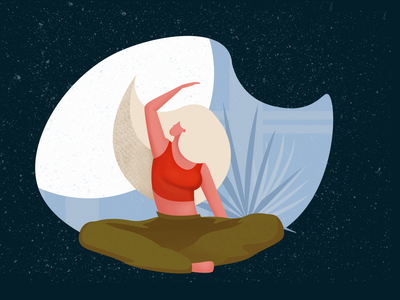 yoga illustration girl texture yoga character art cartoon web website minimal illustrator flat vector illustration design