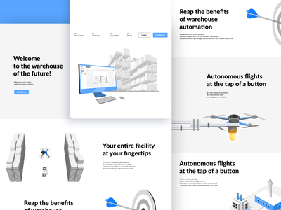 "Illustrations for site ""Ware"" concept ui drone warehouse colorful realistic cartoon app web website modern illustrator flat vector minimal illustration design"