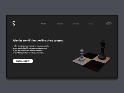 Chess landing page UI