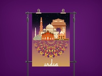 India illustration  Poster